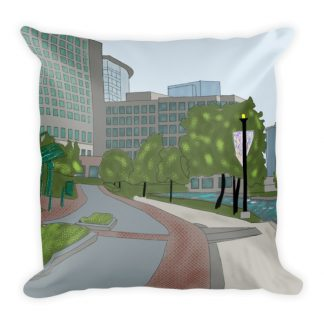 The Woodlands Waterway Square Pillow