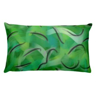 Envy Me Green rectangular pillow