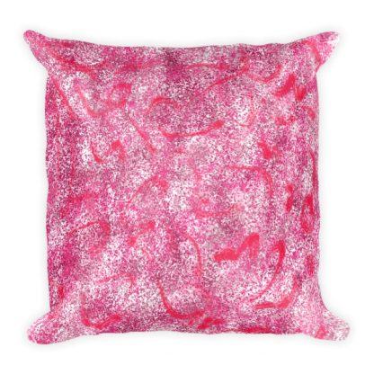 Stardust Red square pillow
