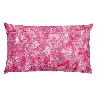Stardust Red rectangular pillow