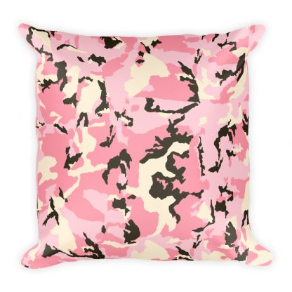 Pink Camo Pattern Pillow