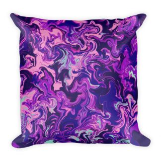 Purple Daydream square pillow