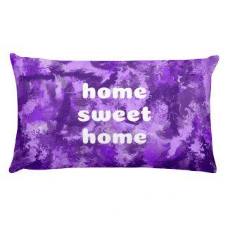 Purple Home Sweet Home Premium Pillow