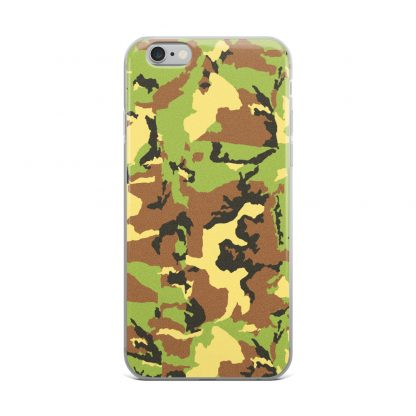 green camo pattern iphone case